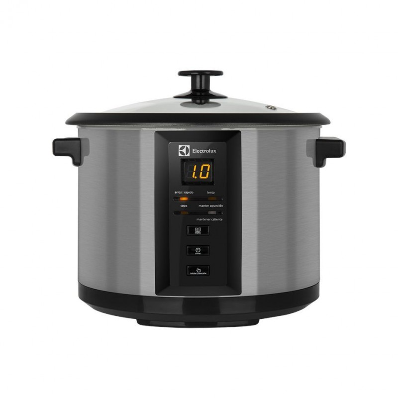 Panela Elétrica de Arroz Chef Display Digital Electrolux 10 Xicaras 1,8L Aço Escovado (ECC20)