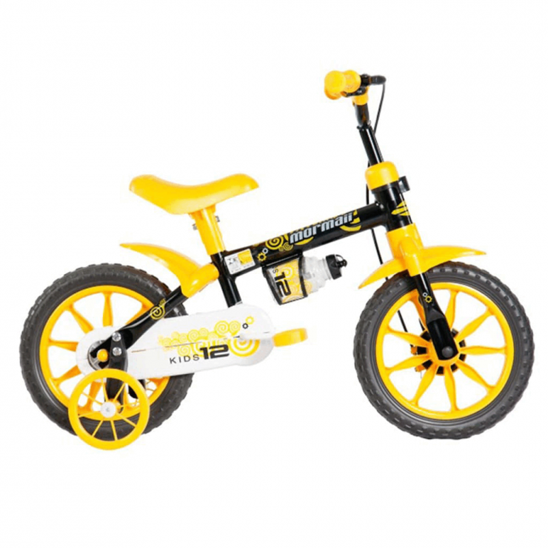 Bicicleta Mormaii Aro 12 Kids Preto/Amarelo - 2011...