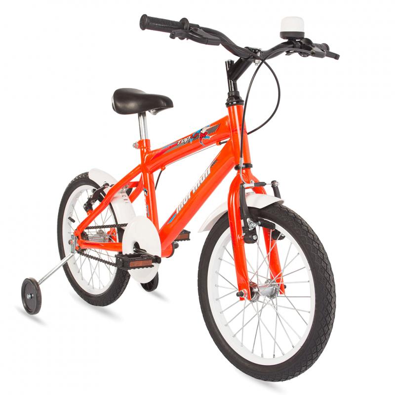 Bicicleta Mormaii Aro 16 Top Lip Cross - c/ aro AERO Laranja Neon - 2011894 - Mormaii