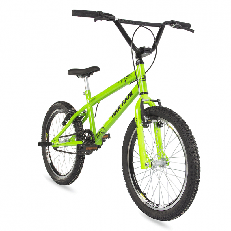 Bicicleta Mormaii Aro 20 Cross Energy Verde Neon - c/ Aero - 2011887 - Mormaii