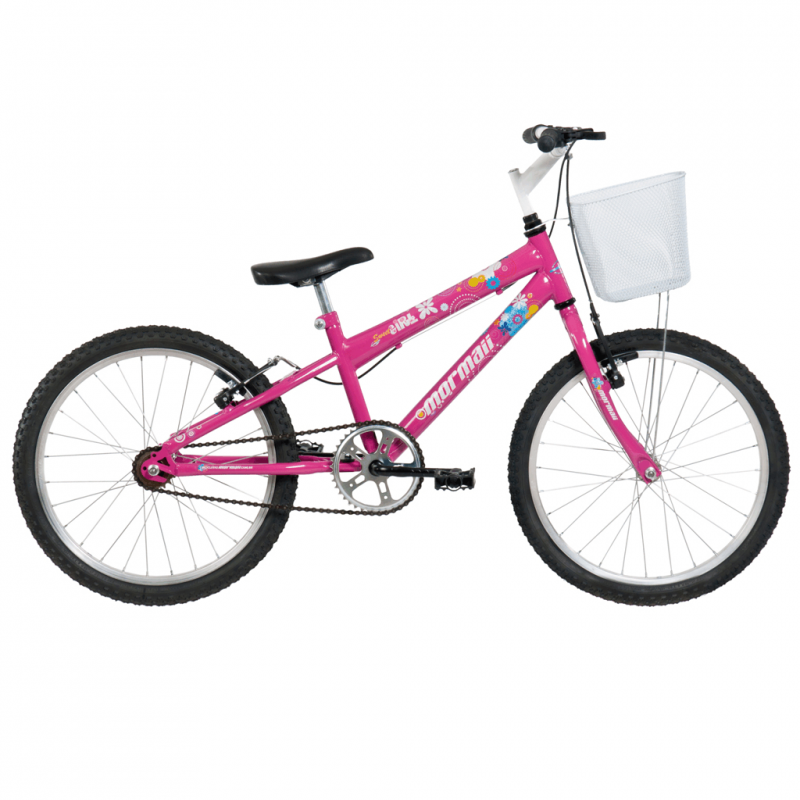 Bicicleta Mormaii Aro 20 Sweet Girl Rosa c/ Cesta ...
