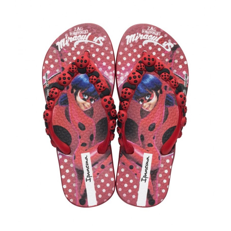 Chinelo Ipanema Ladybug - Vermelho/Vermelho Preto ...
