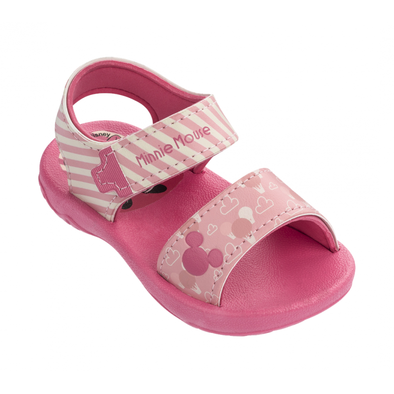 Sandália Mickey e Minnie Fun Baby Menina - Rosa/R...