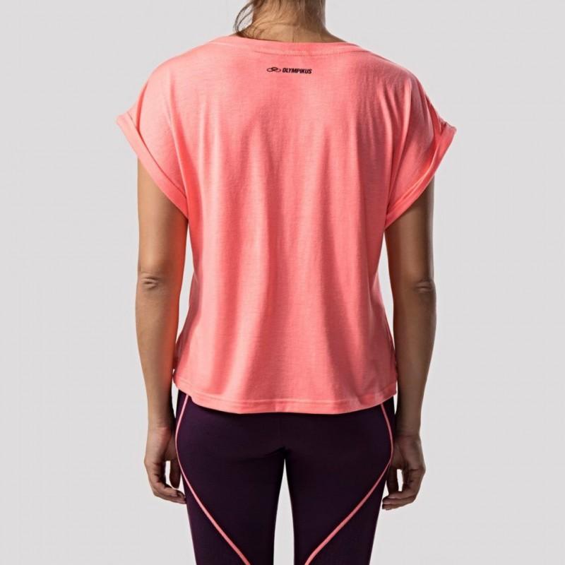 Camiseta Olympikus T-Shirt Wave Feminino - Coral